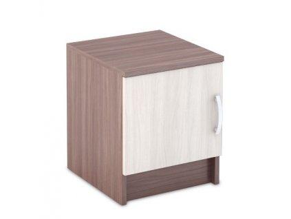 Noční stolek BASIA TB-551 sv./tm. jasan šimo