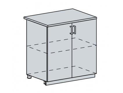 80D d. skříňka 2-dveřová VERONA jasan šimo