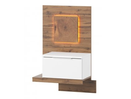 Noční stolek LIVORNO 68 levý dub wotan/bílá