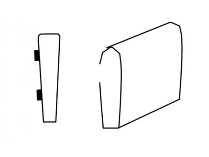 Segment bok B SELECT pravý, látky A1