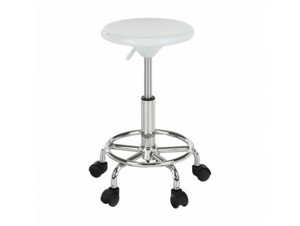 Židle, bílá/chrom, MABEL 3 NEW