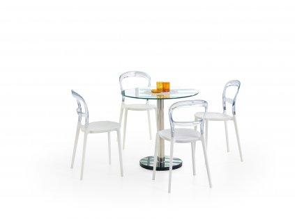 Jídelní stůl CYRYL, barva: čirá