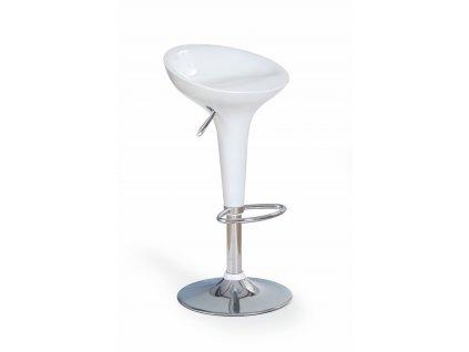 Barová židle H17, barva: bílá
