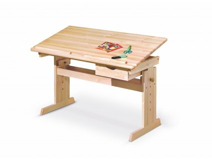 Psací stůl JULIA, barva: borovice