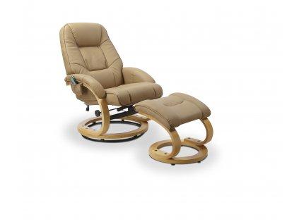Relaxační křeslo s podnožkou MATADOR, barva: béžová