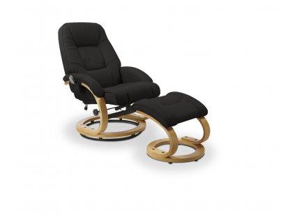 Relaxační křeslo s podnožkou MATADOR, barva: černá