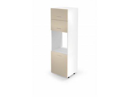 Vysoká skříňka na vestavnou troubu VENTO DP - 60/214, barva: bílá / béžová
