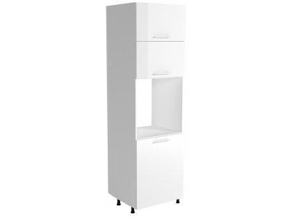 Vysoká skříň na vestavnou troubu VENTO DP - 60/214, barva: bílá