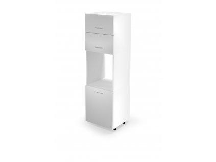 Vysoká skříňka na vestavnou troubu VENTO DP - 60/214, barva: bílá / dub medový