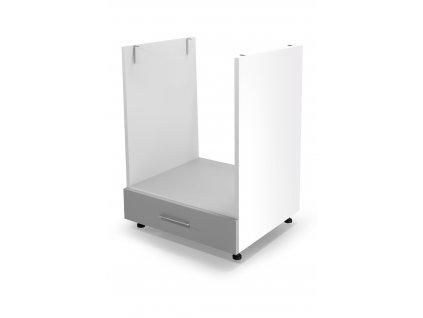 Spodní sporáková skříň VENTO DP - 60/82, barva: bílá / světle šedá
