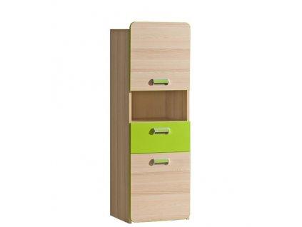 LIMO L4 skříňka se zásuvkou zelená