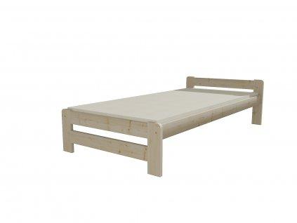 Jednolůžková postel VMK003B 80 x 200 cm, surové dřevo