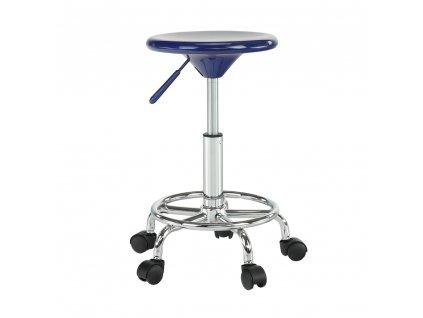 Židle, modrá/chrom, MABEL 3 NEW