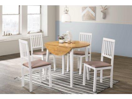 Jídelní stůl SPLIT dub/bílá