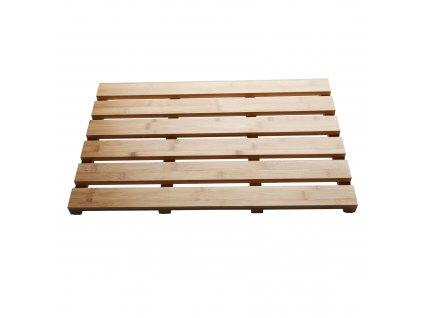 Protiskluzová předložka do koupelny, přírodní lakovaný bambus, KLERA