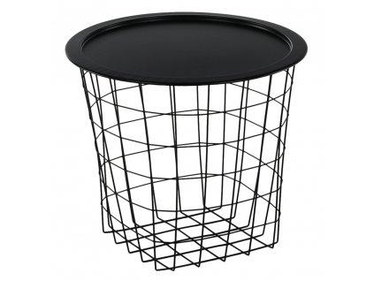 Příruční stolek, černá, MOKAD