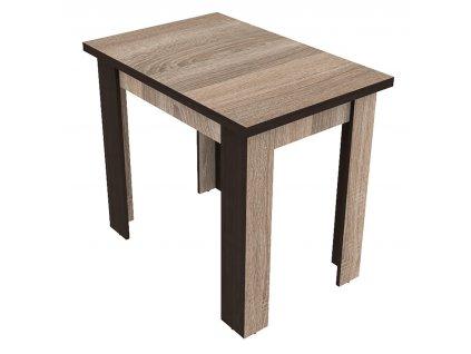 Jídelní stůl rozkládací 90x60 GENEVA sonoma trufel/wenge