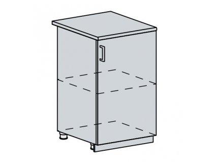 50D d. skříňka 1-dveřová VALERIA bk/black stripe