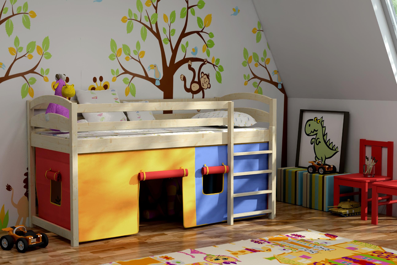 Patrová postel TEREZA + laťový rošt ZDARMA Rozměr: 200 cm x 90 cm, Povrchová úprava: bezbarvý lak