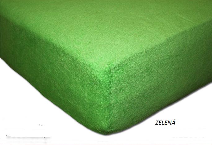 Froté prostěradlo 160 x 200 cm Barva: Zelená