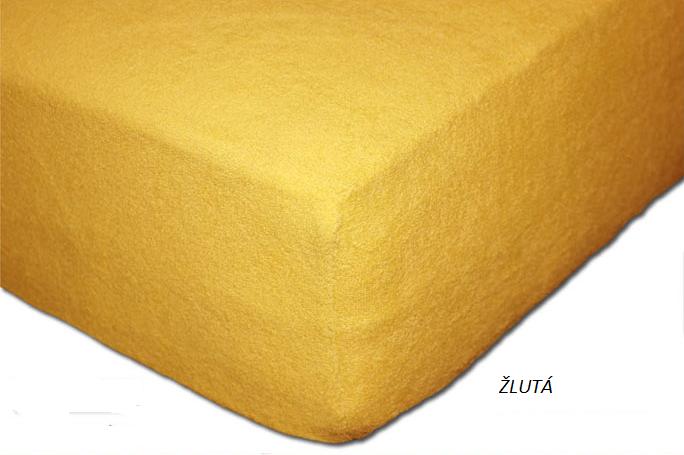 Froté prostěradlo 160 x 200 cm Barva: Žlutá