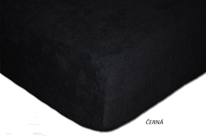 Froté prostěradlo 160 x 200 cm Barva: Černá