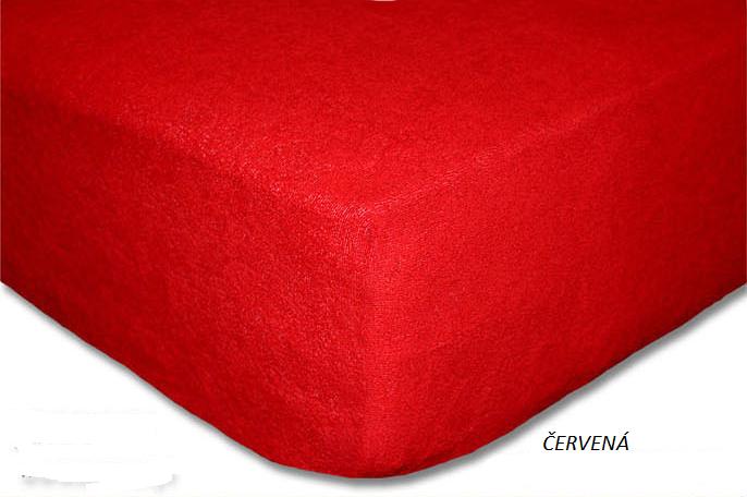 Froté prostěradlo 160 x 200 cm Barva: Červená