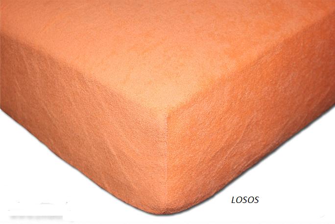 Froté prostěradlo 160 x 200 cm Barva: Losos