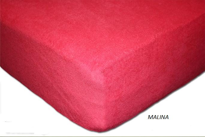 Froté prostěradlo 160 x 200 cm Barva: Malina