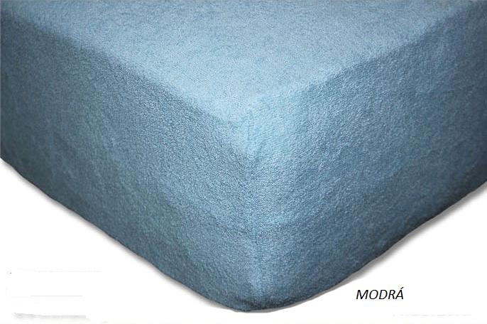 Froté prostěradlo 160 x 200 cm Barva: Modrá