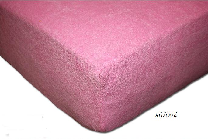 Froté prostěradlo 160 x 200 cm Barva: Růžová