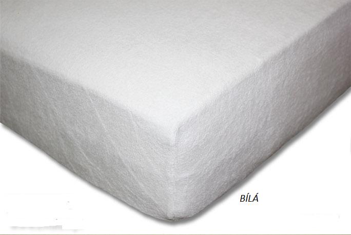 Froté prostěradlo 160 x 200 cm Barva: Bílá