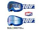 Okuliare 100% STRATA 2 Goggle blue zrkadlo sklo modre 2601 2936 50421 250 02 cire sklo 2601 2925 50421 101 02