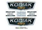 Nálepková sada YAMAHA Kodiak 400/ 450/ 700, strieborná