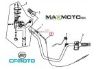 Plynové lanko CF MOTO Gladiator, X6, 901F-100510