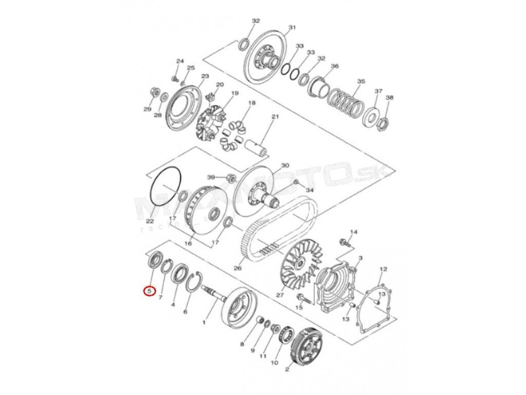 Gufero motora, spojky YAMAHA Grizzly 700, 660, Rhino 660