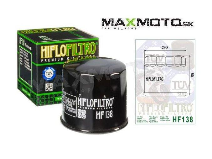 Olejový filter SUZUKI KingQuad 750/700/500/450/400, Quadrunner HF138, 16510-07J00