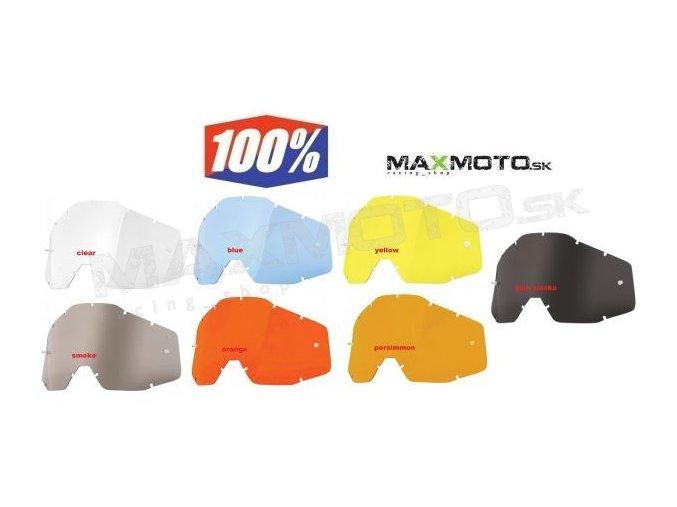Náhradné plexi 100% RACECRAFT / ACCURI/ STRATA - jednosklo