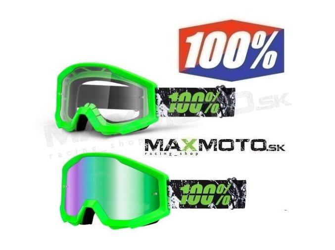 Okuliare 100% STRATA Crafty Lime
