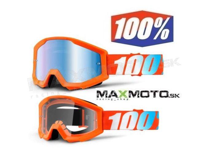 Okuliare 100% STRATA Orange