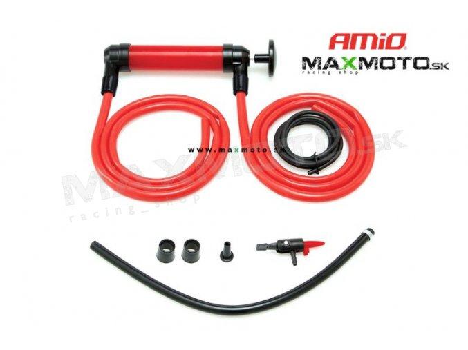 Ručná pumpa AMIO 3v1 na palivo, olej, vzduch