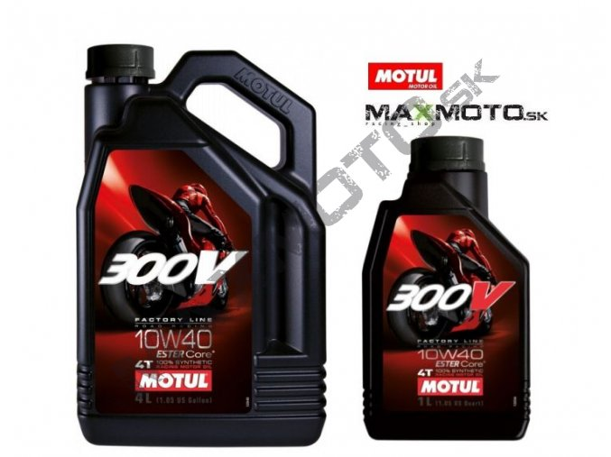 Olej MOTUL 300V 10W40 4T FACTORY LINE ROAD