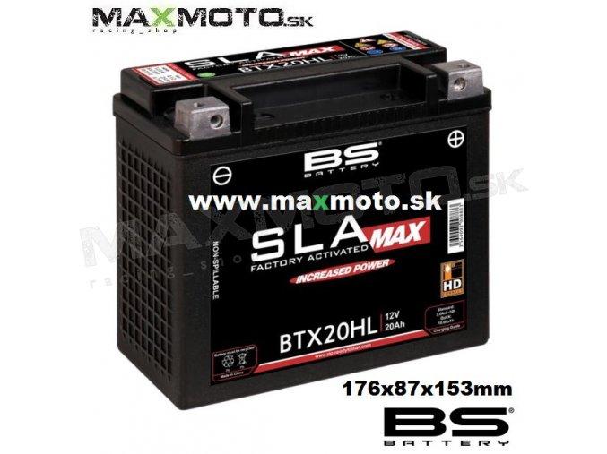 Bateria gelova BTX20HL MAX, 20Ah BTX20HL 300883