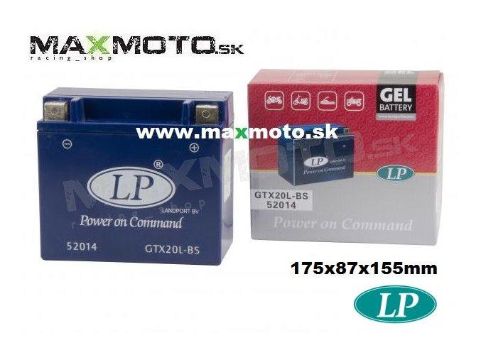 Bateria gelova GTX20L BS 20Ah 175x87x155 GTX20LBS