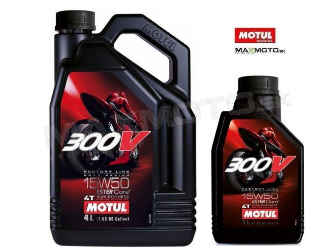 Olej MOTUL 300V 15W50 4T FACTORY LINE ROAD