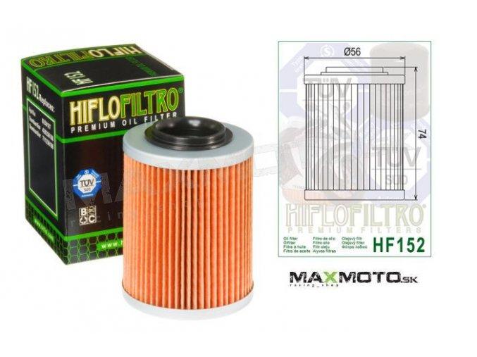 Olejový filter CAN-AM Outlander, Renegade, Commander, Maverick, DS650, 420256188, 711256188, HF152