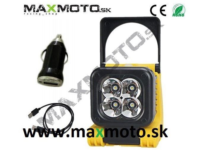 Prenosné LED svetlo 4x3W, 6000Ah Lithium