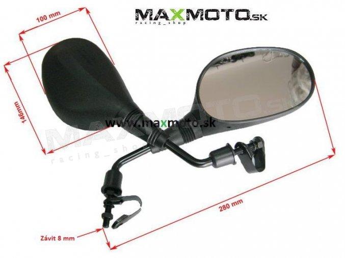 Spätné zrkadlá pre štvorkolky, motorky - sada 8002