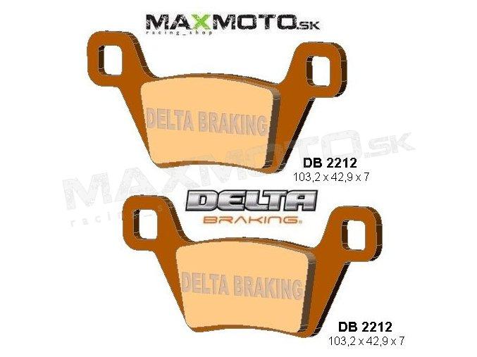 Brzdové obloženie KYMCO MXU 500, 10- ,DELTA