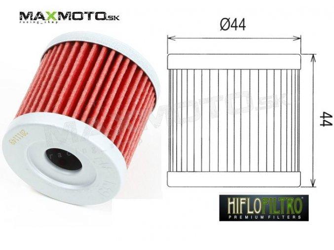 Olejový filter ARCTIC CAT 400 DVX, KAWASAKI KFX400, SUZUKI LTZ400, LTR450 HF139